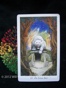 unstuck, bear, courage, challenge, fear, tarot