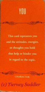 You card from Deck of 1000 Spreads